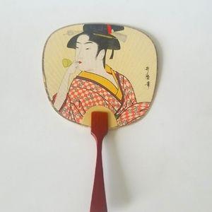 Vintage miniature Japanese hand fan